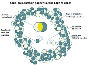 Social collaboration happens at the edge of chaos