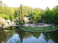 The landscape of the Sofiyivsky Park.