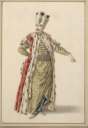 Angelo Maria Amorevoli - Angelo Amorevoli as Solimano (1753)