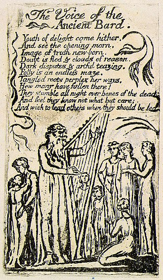 The Voice of the Ancient Bard - Image: Songs of Innocence, copy U object 23 The Voice of the Ancient Bard
