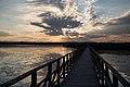 Sonnenaufgang Federsee, der Steg.jpg