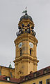 South bell tower Theatinekirche from courtyard Munich.jpg