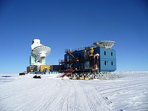 BICEP and Keck Array - BICEP2 telescope near South Pole Telescope