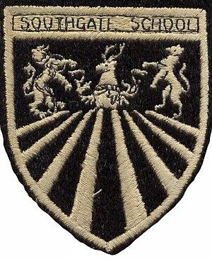 Southgate School - School uniform badge  circa 1970