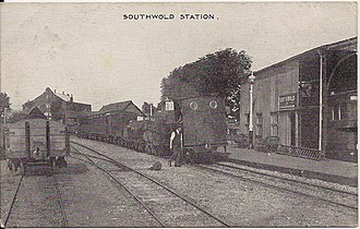 Southwold Railway - A postcard sent in 1924 featuring Southwold railway station