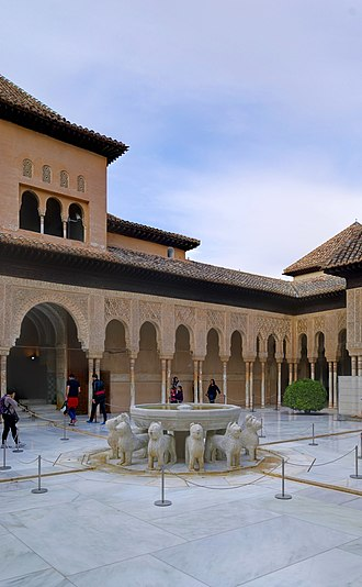 Banu Khazraj - Alhambra, Court of the Lions built by the Nasrid sultans
