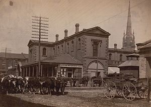 Item is a photograph of St. Lawrence Market, w...