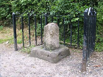 Right of asylum - Remains of one of four medieval stone boundary markers for the sanctuary of Saint John of Beverley in the East Riding of Yorkshire.