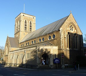 P. G. Wodehouse - St Nicolas, Guildford, where Wodehouse was christened
