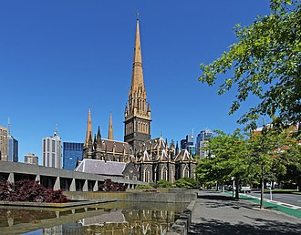 St Patrick's Cathedral, Melbourne - Gothic Revival central tower of St Patrick's Cathedral