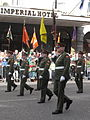 St Patricks Day Parade Cork Ireland South Mall Army Flags.JPG
