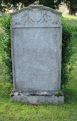 Edward Cavendish, 10th Duke of Devonshire - St Peter's Churchyard, Edensor - grave of Edward, 10th Duke of Devonshire, KG, MBE, TD (1895–1950)