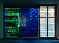 Stained glass of Olympus Optical Headquarters Hamburg by Brian Clarke, 1981.jpg