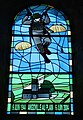 Stained glass window in church at Angoville-au-Plain, France.jpg