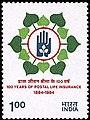 Stamp of India - 1984 - Colnect 361616 - Postal Life Insurance.jpeg
