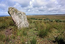 Photograph of a prehistoric standing stone