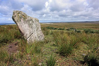 Ímar - Standing stone  Carragh Bhàn, Islay - according to local tradition the burial site of Godred Crovan