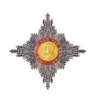 Frank Woods (Archbishop of Melbourne) - KBE insignia