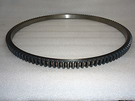 starter ring gear wikipedia rack and pinion gear starter ring gear