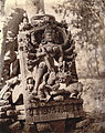 Statue of Durga slaying Mahisasura, Dulmi, Manbhum district in 1872-73.jpg