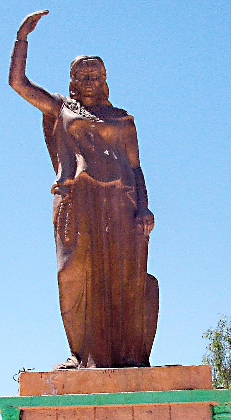 Statue of Dyhia in Khenchela (Algeria)