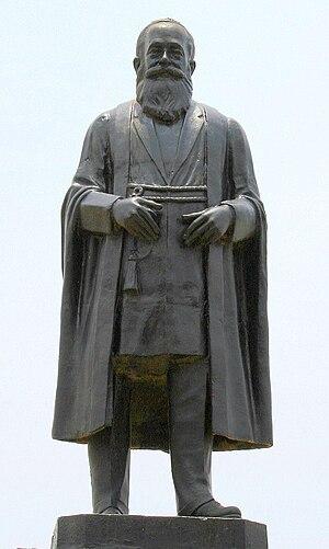 George Uglow Pope - Statue of G. U. Pope in Triplicane, Chennai.