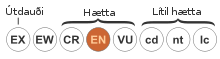 Status iucn2.3 EN-is.svg