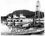 Steamships HAMLIN, OGILVIE, AND MCCONNELL at dock in the Stikine River at Wrangell, nd (NOWELL 28).jpeg