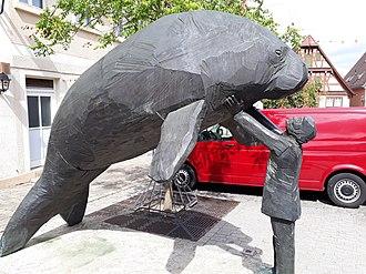 Georg Wilhelm Steller - A statue in Bad Windsheim commemorating Georg Wilhelm Steller