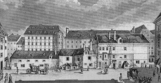 Stephansplatz in Wien um 1780