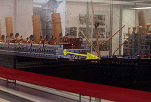 The Steerage - Likely point of view for The Steerage aboard the Kaiser Wilhelm II. Shown on a model of the ship in the Deutsches Museum, Munich
