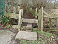 Stile at the start of FP25 on Whitfield Lane.jpg