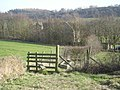 Stile on the path from the ridge to the manor - geograph.org.uk - 689863.jpg