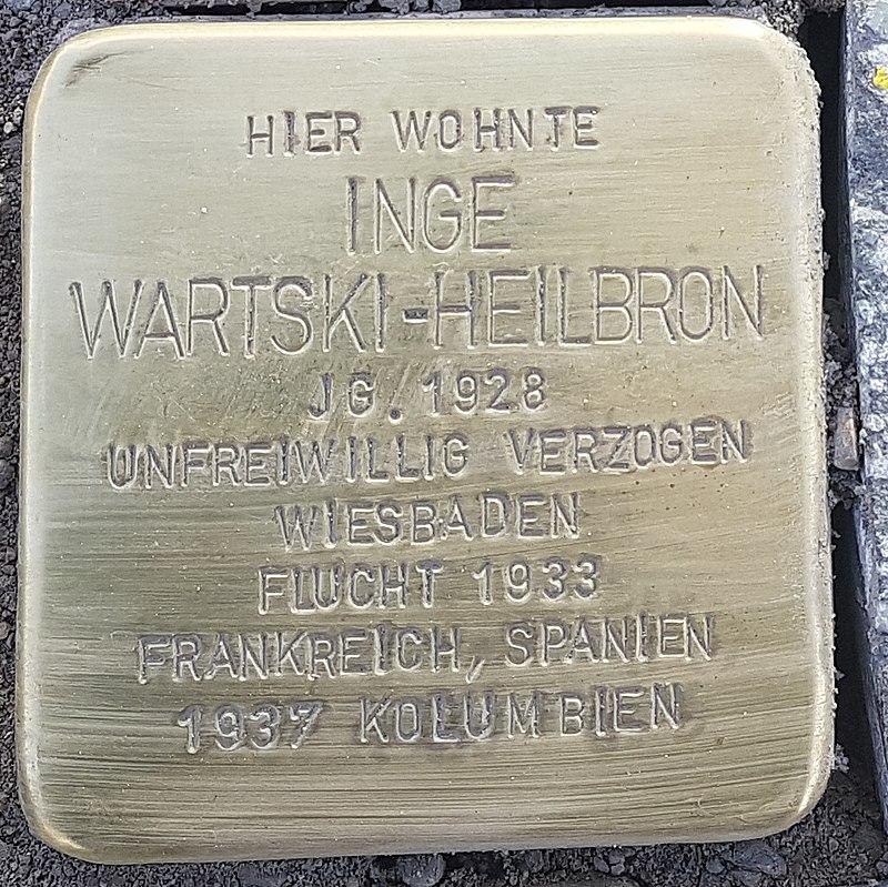 Stolperstein Aalen Inge Wartski-Heilbron Bahnhofstraße 18.jpg