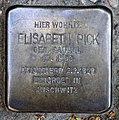 Stolperstein Claudiusstr 5 (Hansa) Elisabeth Pick.jpg