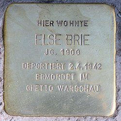 Photo of Else Brie brass plaque