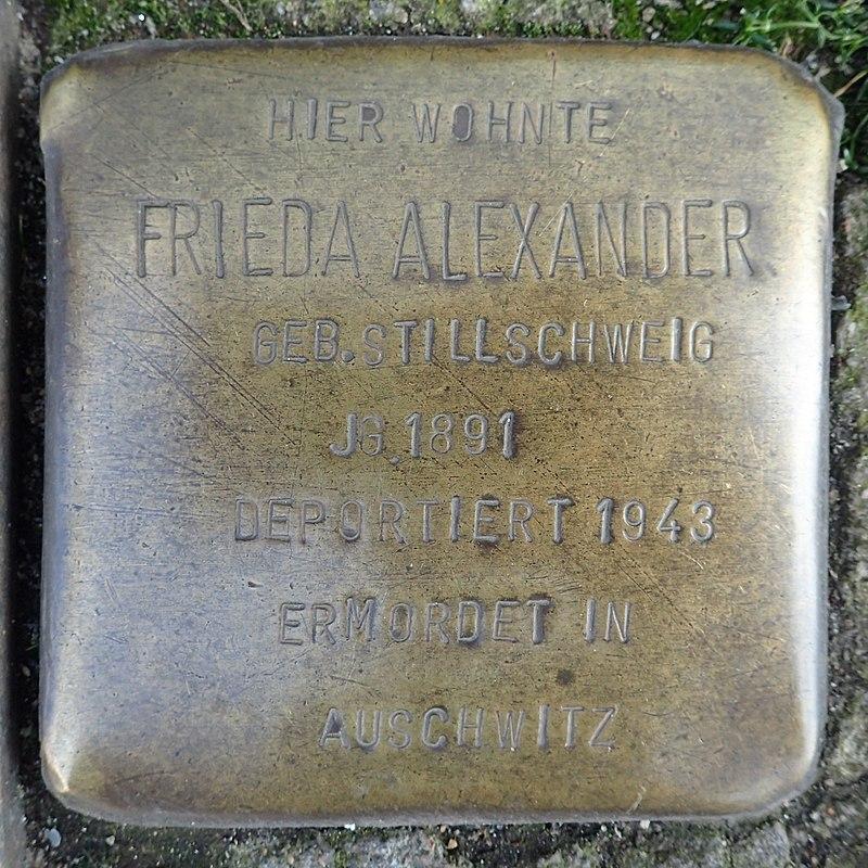 Stolperstein Heide Friedrichstraße 4 Frieda Alexander