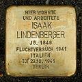 Stolperstein Isaak Lindenberger Otto Braun Str 70 Berlin.jpg