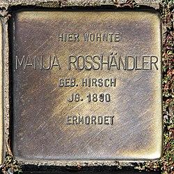 Photo of Manja/Mania Rosshändler brass plaque