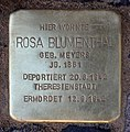 Stolperstein Sächsische Str 72 (Wilmd) Rosa Blumenthal.jpg