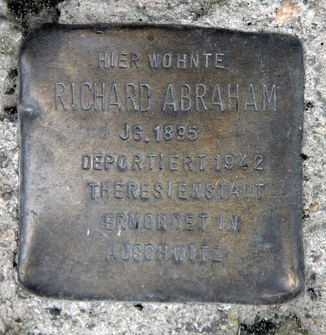 Photo of Richard Abraham brass plaque