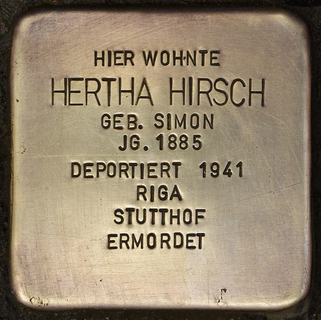 Stolperstein für Hertha Hirsch (Kiel).jpg