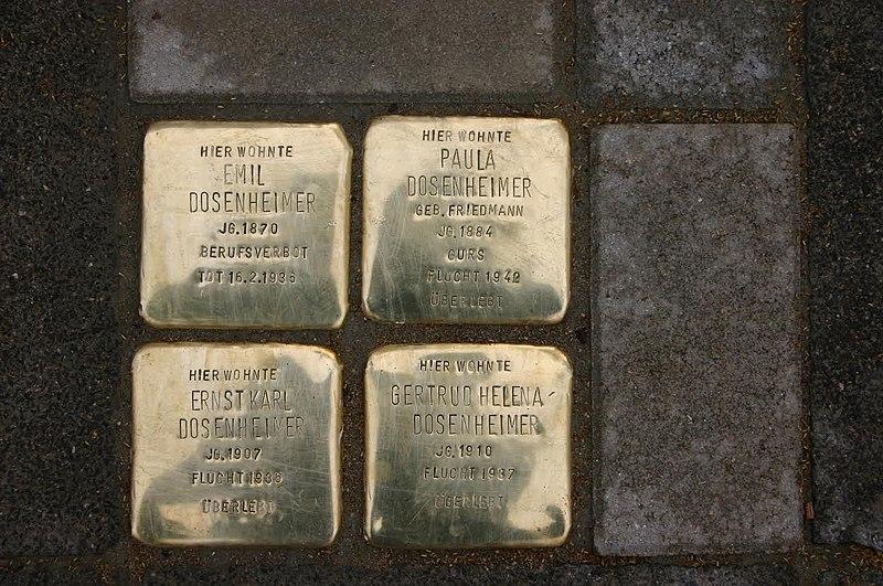 File:Stolpersteine Dosenheimer in Frankenthal.jpg
