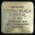 Stumbling block for Friedrich Wilhelm Rosenthal (Schaurtestrasse 1)