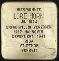 Stolpersteine Köln Erzbergerplatz 13 Lore Horn.jpg