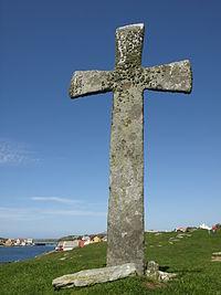 Stone cross, Leiasundet, Kvitsøy Rogaland.jpg