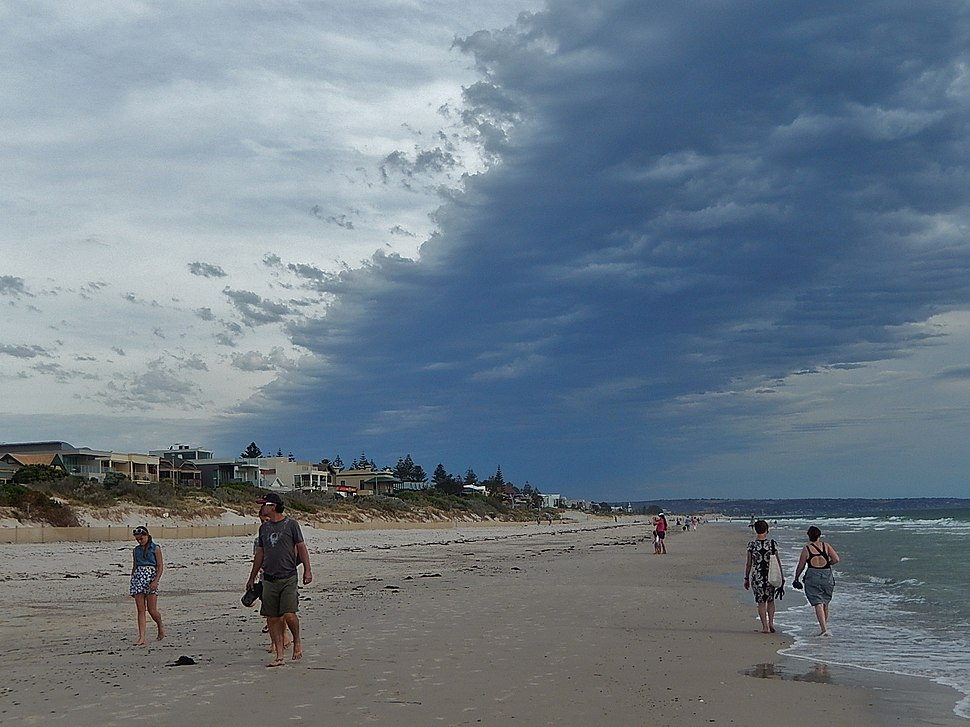 Stormy weather at Henley Beach