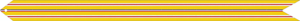 A ribbon with a mostly yellow color, that was awarded to people that served in the Pacific theater