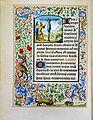 Stundenbuch der Maria von Burgund Wien cod. 1857 Heilige Ontcomera Wilgefortis.jpg