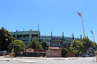Subiaco Oval - Subiaco Oval entrance from Roberts Road showing the gates which will be salvaged from demolition